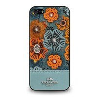 COACH NEW YORK BLUE TEA ROSE iPhone 5 / 5S / SE Case Cover