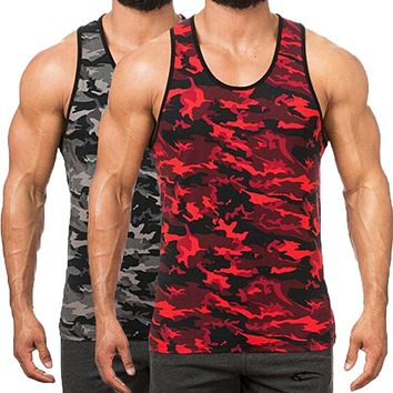 Camouflage Sleeveless Men's Tank Tops