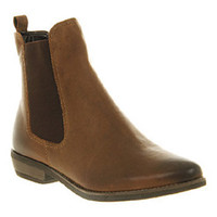 Office DALLAS CHELSEA BOOT BROWN LEATHER Shoes - Womens Ankle Boots Shoes - Office Shoes