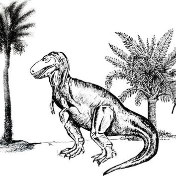 Tyrannosaurus Rex dinosaur png clip art Digital graphics Image Download coloring page printables animals lizards images