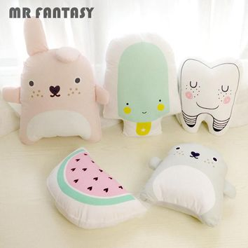 Baby Catoon Pillow Kids Cute Cushion Cotton Baby Room Decor Child Stuffed Soft Newborn Bed Doll Home Textile GPD8082
