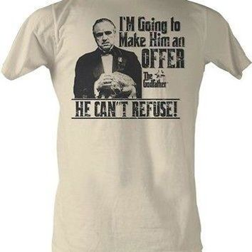 The Godfather Make Him An Offer Men Adult T-Shirt Dirty White