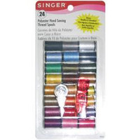 Polyester Thread, Hand Sewing 10 yd spools, 24 to a pkg, Singer Notions Product