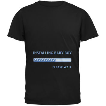 Installing Baby Boy Funny Black Adult T-Shirt