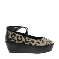 Park Lane Leopard Print Flatform Shoes
