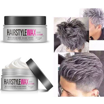 BIOAOUA Silver Grey Disposable Men Hair Style Wax Mud Dye Cream