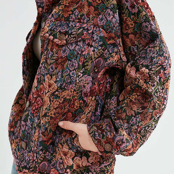 BDG Floral Jacquard Trucker Jacket | Urban Outfitters