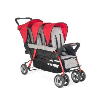 Foundations Trio Sport 3-child Stroller Red - 4130079