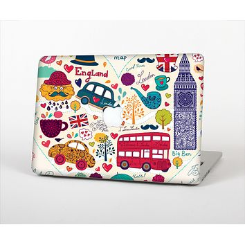 "The Vector London Sketchbook Collage Skin Set for the Apple MacBook Pro 13"" with Retina Display"