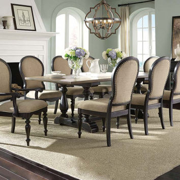Black and Brown Dining Set, Upholstered   Cambria 5 Piece Dining Set   American Freight