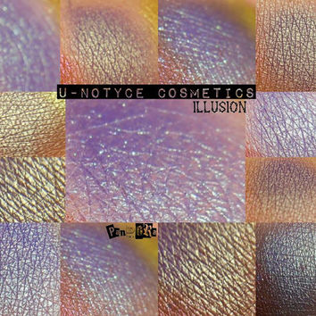 Duochrome Mineral Eyeshadow: ILLUSION. Purple/teal blue