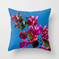 SUNLIGHT AND FLOWERS Throw Pillow by catspaws