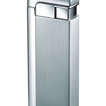 Visol Russo Satin Chrome Wind-Resistant Jet Flame Lighter