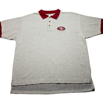 Vintage 90s San Francisco 49ers Embroidered Polo Shirt Mens Size XL