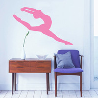 Wall Decal Vinyl Sticker Decals Home Decor Mural Ballerina Acrobatics Girl Ballet Dancer Gymnastics Sport Jump Bedroom Dance Studio AN200
