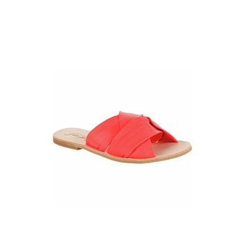 Free People Rio Vista Slide Sandals Coral