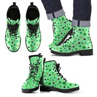 St Patricks Day Mens Leather Boots Style1