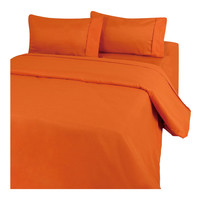 Queen size Microfiber Sheet Set in Rust Orange - Softer Than Most Cotton