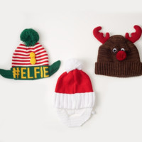 Ugly Sweater Knit Hat | 3 Assorted Styles
