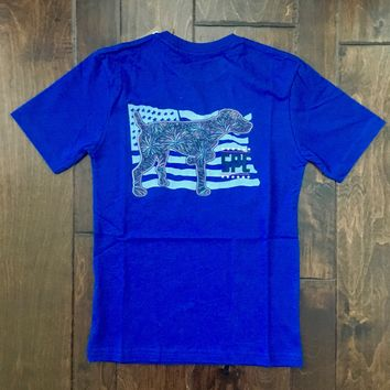 Southern Point - Youth Signature Tee - Pointer Flag Deep Blue