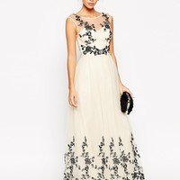 Chi Chi Petite Floral Applique Maxi Prom Dress