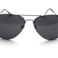 Black Wire Rimmed Sunglasses