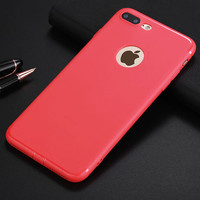 Change Your iPhone to Candy Red Slim Phone Case For iPhone 7 7Plus 6 6s Plus