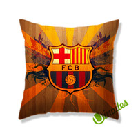 Fc Barcelona Logo Square Pillow Cover