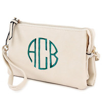 Monogrammed Crossbody Purse | Monogrammed Wristlet Purse | Personalized Purses | Monogrammed Clutch Purse | Monogrammed Bridesmaids Gifts