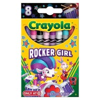 Crayola 8ct Pick your Pack Rocker Girl Crayons