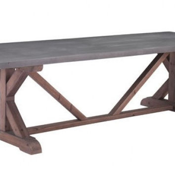 Durham Dining Table Gray & Distressed Fir