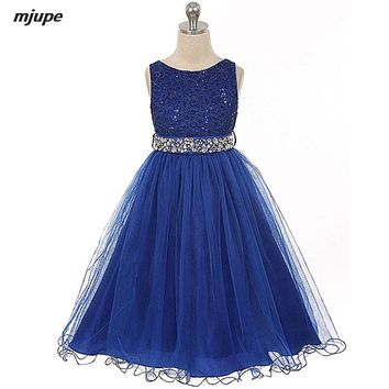 lace flower girls dresses for party and wedding short elegant dresses for girls sleeveless beading dress to the prom for girls