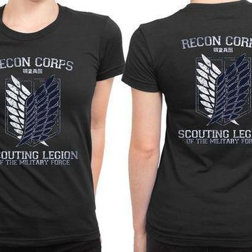 Attack On Titan Recon Corps 2 Sided Womens T Shirt