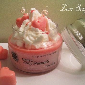 15oz Large jar pure soy wax candles by irenescozynaturals on Etsy