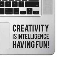 Creativity Motivational Macbook Pro Air Keyboard Sticker Decal Inspirational Pad