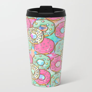 Sweet Donuts Cookies Metal Travel Mug by Smyrna