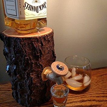 Liquor Dispenser, Log Liquor Dispenser - New and Improved, Patent Pending!