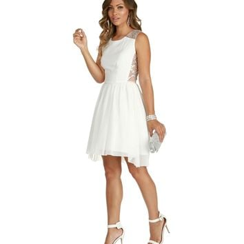 Madison-white Homecoming Dress