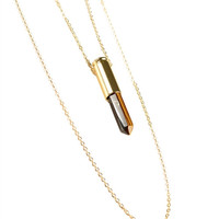 Adalize Double Chain Rock Necklace- Gold