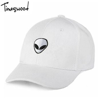 [TIMESWOOD] New 3 Letter Baseball Caps Cartoon Cat Face LOGO Men Women Adult Bones Alien Hats Holiday Summer Fashion Adjust Hat