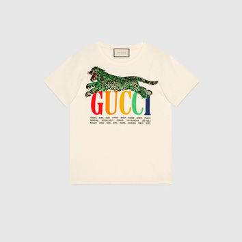 Gucci - Gucci Cities T-shirt with tiger
