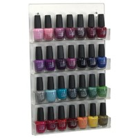 Top Performance Acrylic Nail Polish Displays - Convenient and Versatile Shelves for Displaying Pet Nail Polishes for Grooming or Retailing, Clear