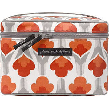 Petunia Pickle Bottom Travel Train Case, Brittany Blooms Red/Orange