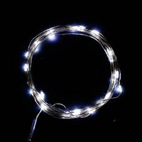 DUMVOIN(TM) 10ft/3m 30 LEDs Fairy LED Wire String Lights/Starry Starry Lights with Timer Battery Box,Indoor and Outdoor String Lights Battery Operated for Festival, Christmas, Wedding, Holiday and Party Stage/Garden - Cool White[NEWEST VERSION]