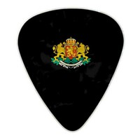 Bulgarian coat of arms pearl celluloid guitar pick