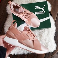 puma muse satin ep pink sneakers sport shoes