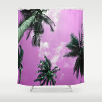 Palm trees Shower Curtain by Nicklas Gustafsson