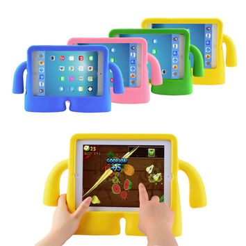 Fashion Style 3D Cute Cartoon Kid Child Shock Proof EVA Foam Handle Stand Protective Cover Case for Apple Ipad Mini 1 2 3 I Pad