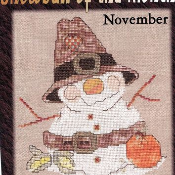 CM Designs Snowball of the Month November Cross Stitch Pattern