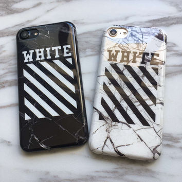 OFF-WHITE OFF WHITE Abloh Kanye West Fashion Glossy Soft Silicon Case for iPhone 7 Phone Case Cover Coque for iPhone 7 Plus Capa